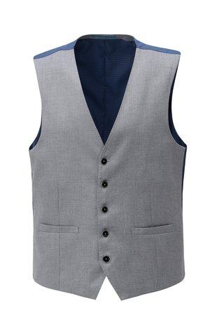 Vesta gri deschis formala Burton Menswear London
