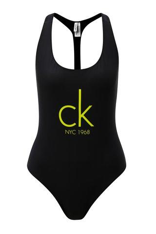 Costum de baie negru Calvin Klein