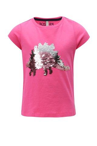 Růžové holčičí tričko s magickými flitry Tom Joule Welly