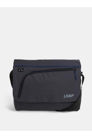 Geanta barbatesca albastru-gri pentru laptop LOAP Gotsa