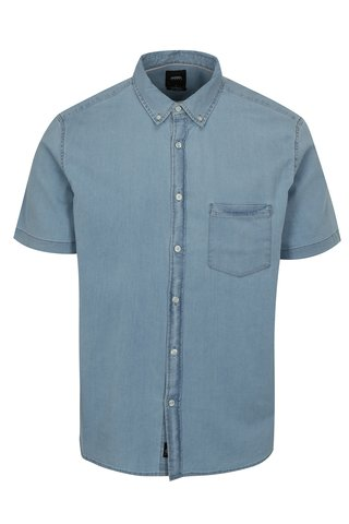 Camasa albastru deschis din denim Burton Menswear London