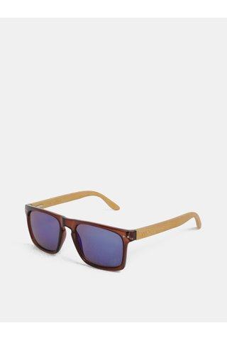 Ochelari de soare maro si brate din bambus WOOX Contrasol Bambusa Fuscus