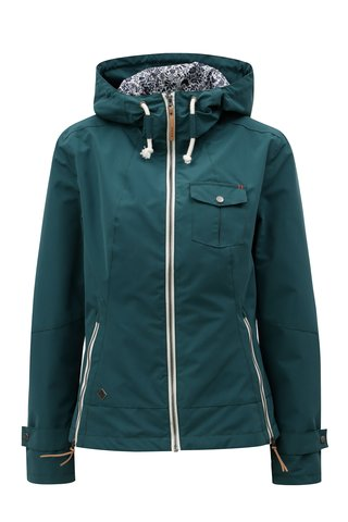 Jacheta de dama verde inchis lejera impermeabila WOOX Ventus Urban Ponderosa Pine
