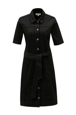 Rochie camasa neagra cu cordon Selected Femme Cat