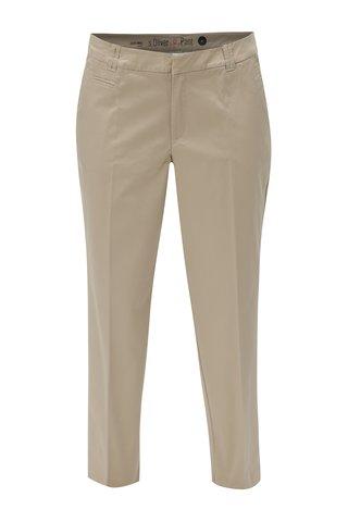 Pantaloni de dama chino crem s.Oliver