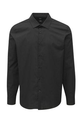 Camasa neagra slim fit Burton Menswear London