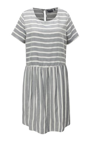 Šedé pruhované  šaty s průstřihem na zádech Broadway Corrie