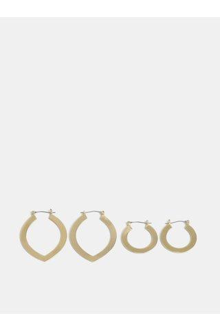Set de 2 perechi de cercei aurii Pieces Dua Creol