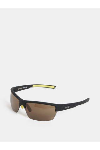 Žluté-černé pánské sluneční brýle Dice Sport