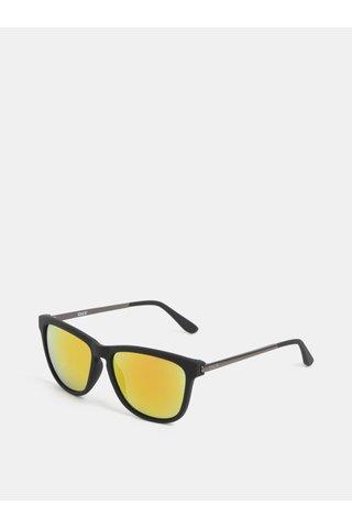 Ochelari de soare barbatesti negri cu lentile oglinda Dice