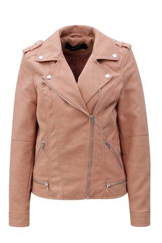 Jacheta roz din piele sintetica VERO MODA World