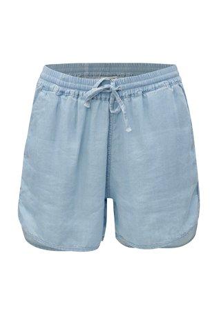 Pantaloni scurti albastru deschis cu talie inalta Noisy May