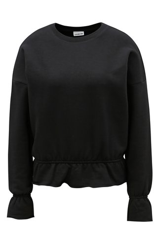 Bluza de dama sport neagra cu volane Noisy May