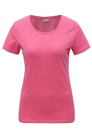 Tricou roz cu decolteu rotund Noisy May