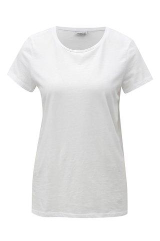 Tricou alb cu decolteu rotund Noisy May