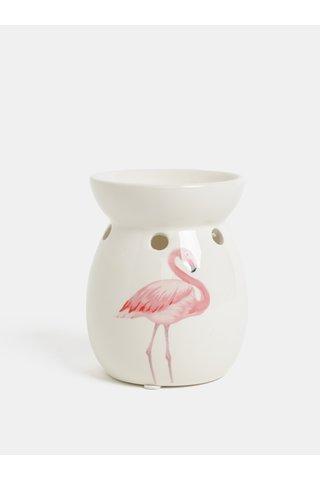 Lampa aromatica crem cu motiv flamingo de culoare roz SIFCON