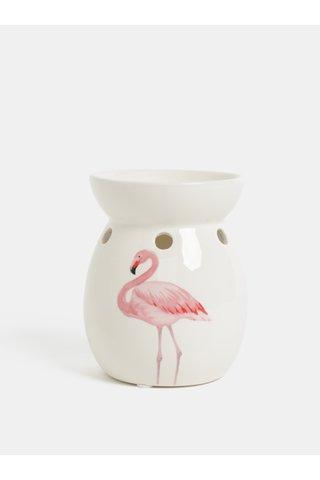 Lampa aromatica crem cu motiv flamingo SIFCON