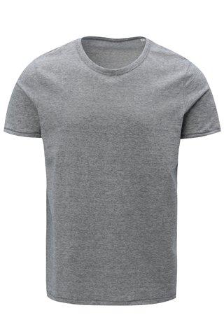 Tmavě modré pánské pruhované tričko Stanley & Stella