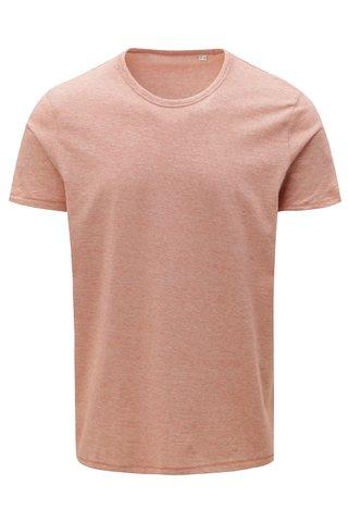 Cihlové pánské pruhované tričko Stanley & Stella