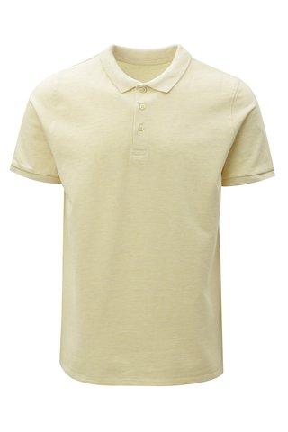 Světle žluté pánské žíhané polo tričko Stanley & Stella