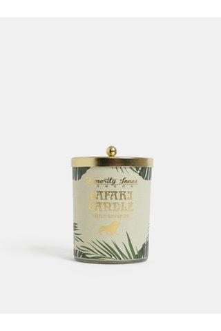 Lumanare de culoare verde si auriu cu aroma de ceai verde si flori Temerity Jones