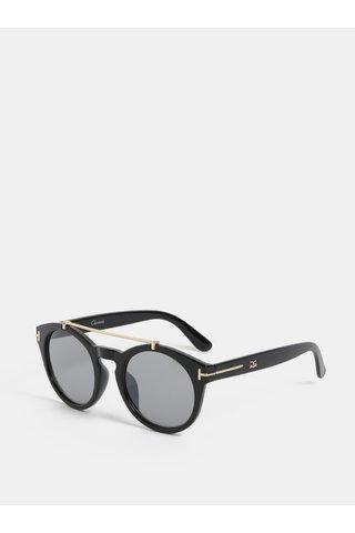 Černé sluneční brýle s detaily ve zlaté barvě Gionni