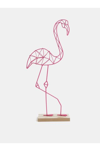 Decoratie roz in forma de flamingo SIFCON