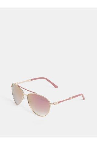 Růžové sluneční brýle se zrcadlovými skly Gionni