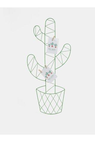 Suport verde pentru poze in forma de cactus SIFCON