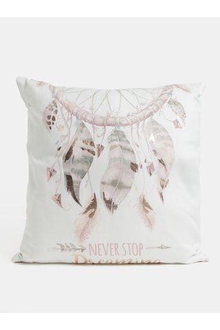 Perna metalizata alb-roz cu motiv dreamcatcher SIFCON