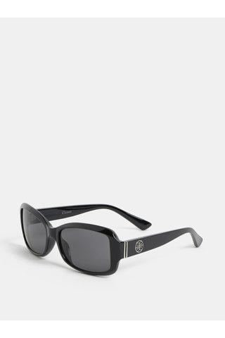 Ochelari de soare negri cu detalii argintii Gionni