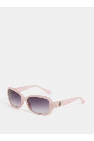 Světle růžové sluneční brýle s detaily ve zlaté barvě Gionni