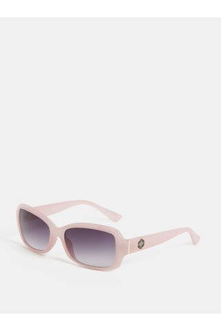 Ochelari de soare roz deschis cu detalii aurii Gionni