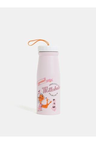 Termos roz cu print Disaster 350 ml