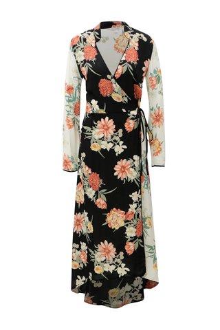 Rochie maxi alb-rosu suprapus cu model floral Miss Selfridge