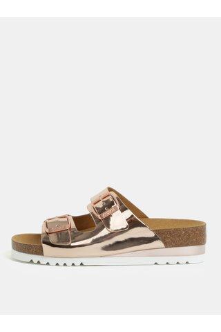 Papuci de dama ortopedici roz-auriu Scholl Glam