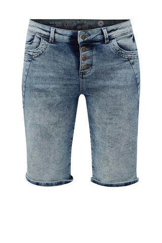 Pantaloni de dama albastri scurti regular fit din denim s.Oliver