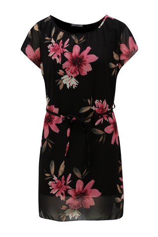 Rochie neagra cu model floral Haily´s Anne