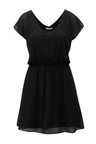 Rochie neagra cu banda elastica in talie Haily´s Anika