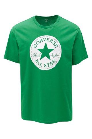 Tricou barbatesc verde cu print Converse Chuck Patch