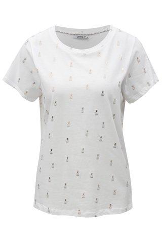 Tricou alb cu print de ananasi Haily´s Lenya