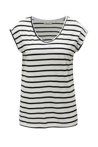 Tricou negru-alb in dungi Haily´s Juna