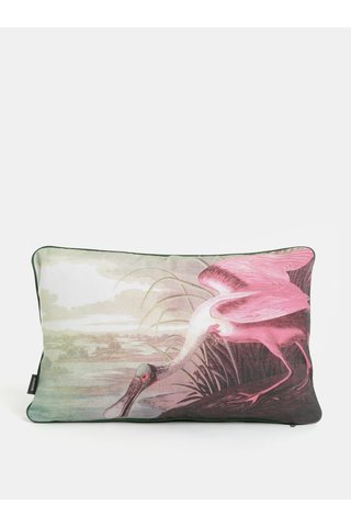 Perna alb-roz cu print Magpie Heron