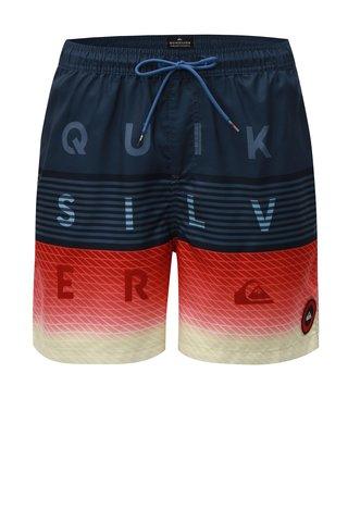 Pantaloni scurti de baie albastri cu aplicatie Quiksilver