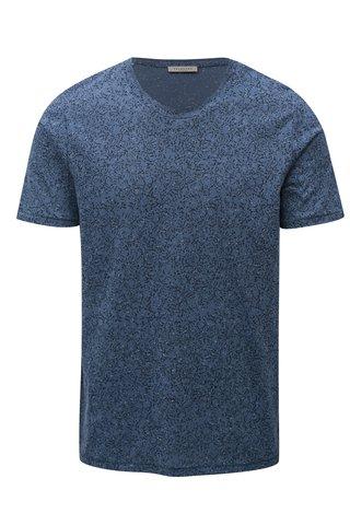 Modré vzorované tričko Selected Homme Raul