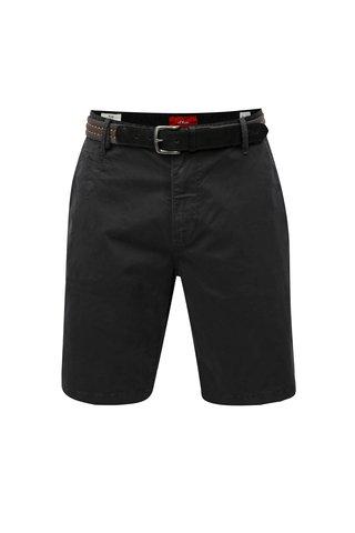 Pantaloni barbatesti scurti albastru inchis chino cu curea s.Oliver