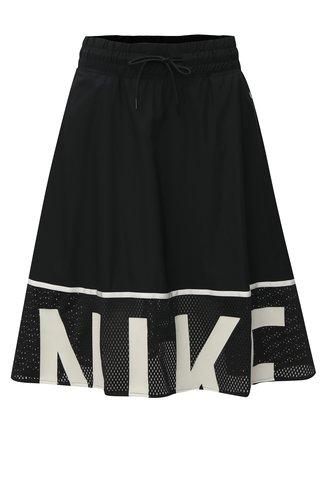 Fusta alb-negru cu banda elastica in talie Nike Mesh