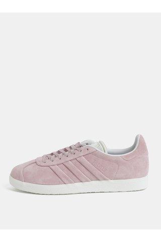 Tenisi de dama roz din piele intoarsa adidas Originals Gazelle