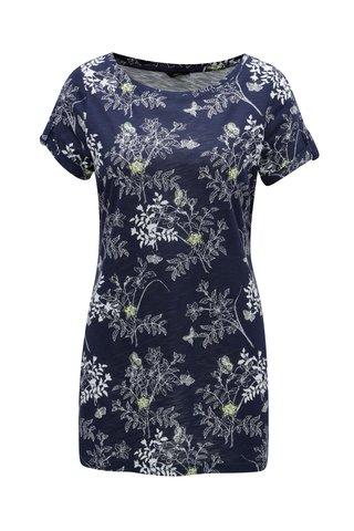 Tmavě modré květované tričko M&Co