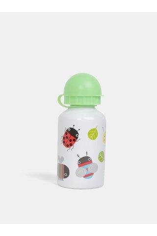 Sticla de apa verde-alb cu motiv de animale Sass & Belle